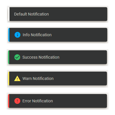 Notifications output